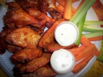 Chicken Wings w/Celery and Carrot Sticks and Dipping Sauce