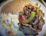 Parrillada with Rice and Beans