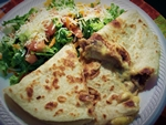 Quesadilla Chicken or Beef and a Side Salad